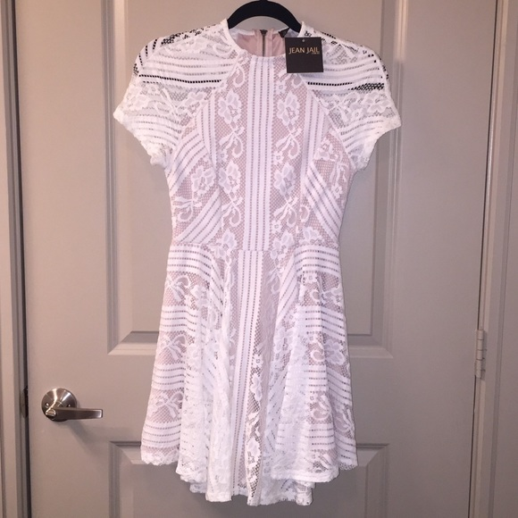 37357c7ddc3 NWT White Lace Dress from Jean Jail